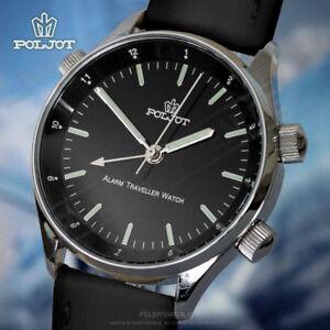 POLJOT-Signal-2612-1741586-Zivil-Traveller-Wecker-Russian-alarm-watch-Flieger