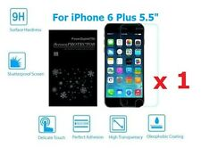 """Premium Real Tempered Glass Film Screen Protector for Apple iPhone 6 Plus 5.5"""" Red"""