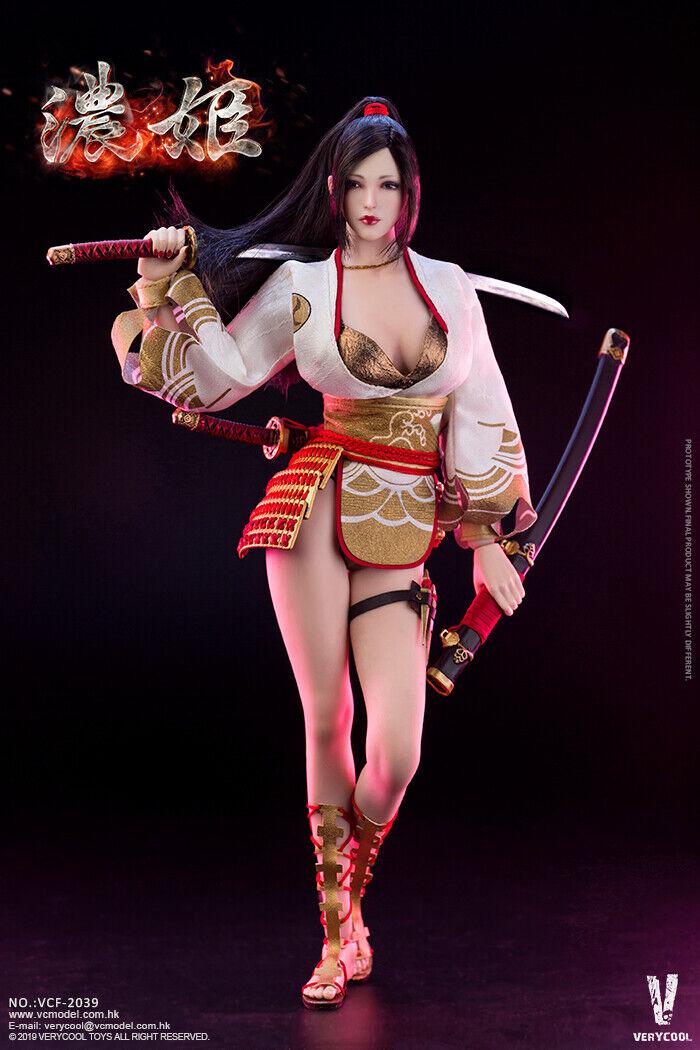 VERYCOOL VCF-2039 1 6 Ancient Hero Nōhime Figure 12'' Japanese Female Doll Set