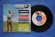 CHARLES AZNAVOUR / EP BARCLAY 70342 / VERSO 1 LABEL 1 / BIEM 10-1960 ( F )