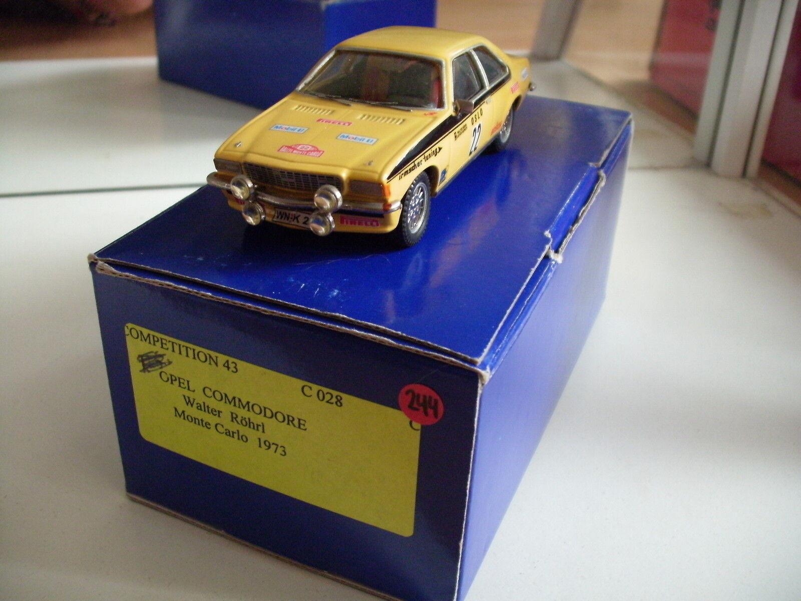 Hand Built Model Competition 43 Opel Commodore Monte Carlo 1973 in giallo 1:43