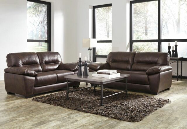 Frequently Bought Together Ashley Furniture Mellen Leather Sofa And Loveseat