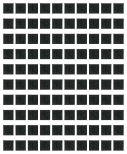 100pcs Lot of 20mm Square Black Plastic Bases For Warhammer Wargame Games Base