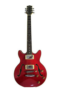 Alden AD-134 DC Double Cutaway Trans Red Hollow Body Electric Guitar ES-339 New