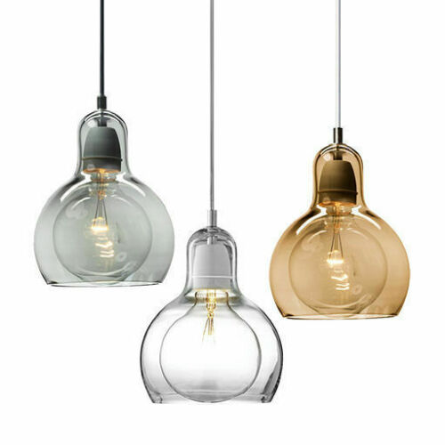 Small//Large Mouth-Blown Glass Modern Mini Pendant Light Hanging Chandelier Lamp
