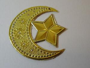 Christbaumschmuck Dresdner Pappe Weihnachtsschmuck Stern Mond Gold