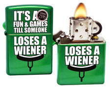 Zippo 29345 It's All Fun & Games Matte Green Meadow Windproof Pocket Lighter New
