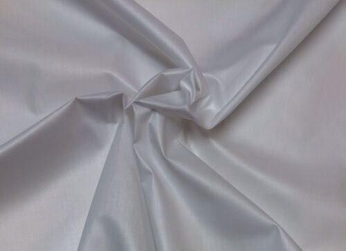 "SOLID WHITE CURTAIN LINING SHEETING DRAPERY CRAFT FABRIC BY THE YARD 44/"" WIDE"