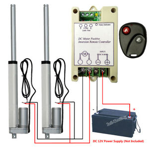"Set of 2 8"" 12V Linear Actuator W/ Remote Controller Electric Window Door Opener 608651080978"