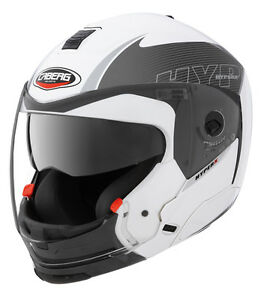 Caberg-Hyper-X-Mod-Convertible-Motorcycle-Helmet-White-Anthracite-XS