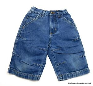 2-years-boys-Jacadi-blue-denim-cropped-trousers-jeans-summer-shorts