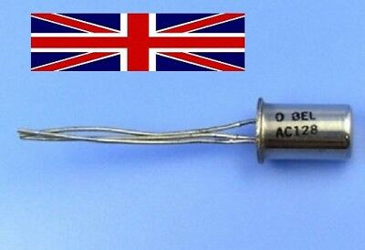 AC128 100/% Genuine and New CAN-3 GERMANIUM TRANSISTORS BELSONY TO-1