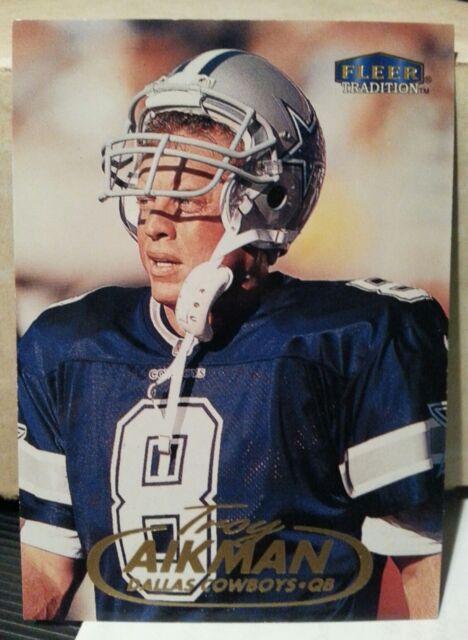 Buy 1998 Fleer Tradition Troy Aikman Dallas Cowboys  158 Football ... d993a06f0