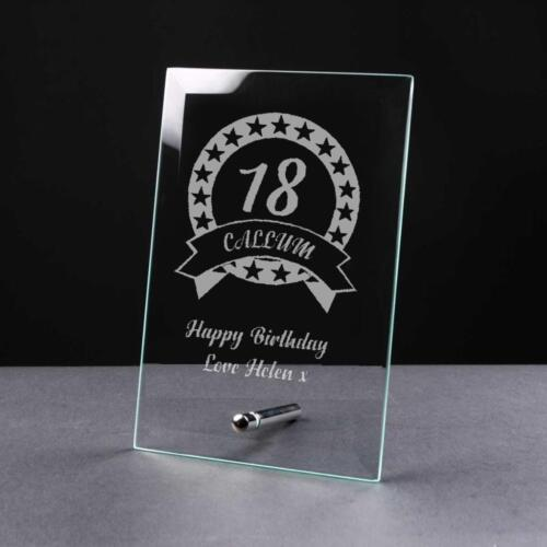 Personalised BIRTHDAY Gift 18th//21st//30th//40th//50th//60th//70th Glass Plaque GP32