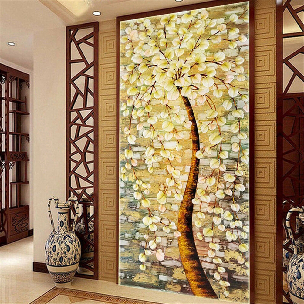 5d Diamond Painting Wealth Tree Rhinestone Embroidery DIY Cross ...