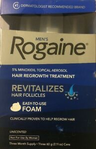 Men's Rogaine Hair Regrowth Treatment  Foam 3 Month Supply - Unscented EXP/11/19