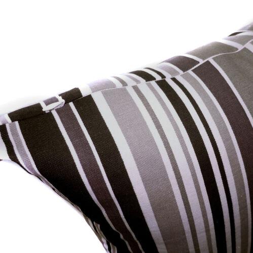 Pillow Cover*Striped Cotton Canvas Sofa Seat Pad Cushion Case Custom Size*AK1