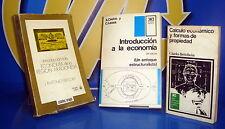Libro tres libros economia-INTRODUCCION A LA ECONOMIA-CALCULO ECONOMICO-