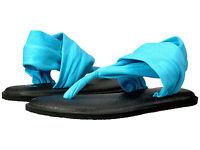 Women Sanuk Yoga Sling 2 Flip Flop Sandal Sws10001 Aqua 100% Authentic Brand