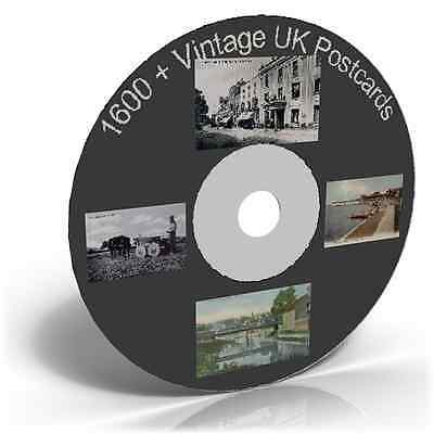 1600 + Vintage UK Postcards - Photo Card Art & Craft CD