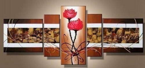 CHOP77 5pcs landscape flower 100/% hand-painted oil painting wall art canvas