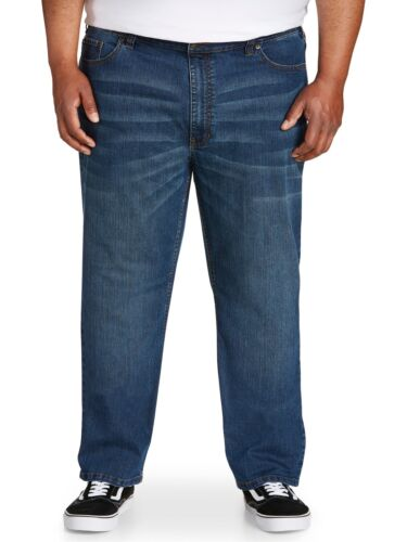"""Canyon Ridge Big /& Tall Men/'s Athletic Fit Jeans Gray Dark Wash Up to 62/"""" Waist"""