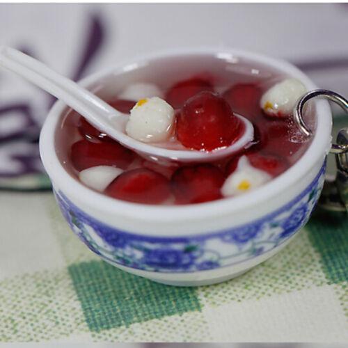 1x Schlüsselanhänger Chinesisches Porzellan Nahrungsmittelschüssel  X