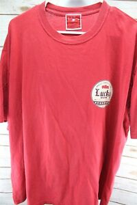 Lucky-Brand-Red-Large-Graphic-Tee-Men-039-s-Shirt