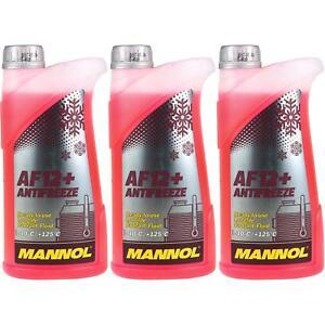 3x1-LITRI-MANNOL-RADIATORE-ANTIGELO-tipo-g12-ANTIFREEZE-refrigerante-40-C-ROSSO-ROSA