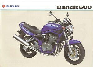 Suzuki Gsf600 Gsf600k4 600 Bandit 2004 Uk Sales Brochure Ebay