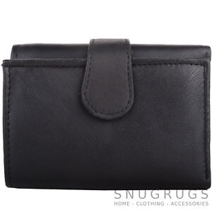 Mens-Gents-Soft-Leather-Tri-Fold-RFID-Protected-Money-Coin-Holder-Wallet