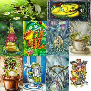 5D-DIY-Full-Drill-Diamond-Painting-Puppy-Frog-Cross-Stitch-Embroidery-Art-Kits