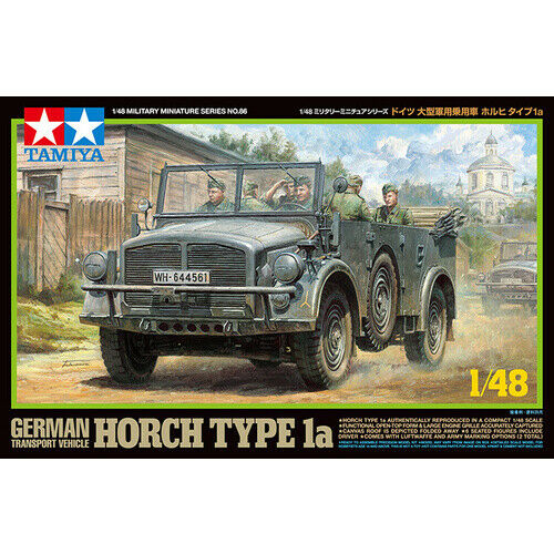 Tamiya #32586 - German Transport Vehicle Horch Type 1a 1:48 Scale Model (Militar