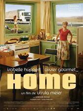Affiche 40x60cm HOME (2008) Isabelle Huppert, Olivier Gourmet TBE