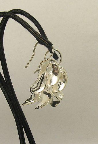 Silber Ohrringe 925  BLUME E000381