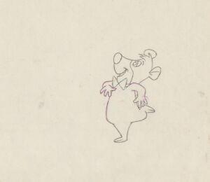 Yogi-039-s-Gang-Boo-Boo-cel-Production-Drawing-HB-Hanna-Barbera-1973-Yogi-Bear