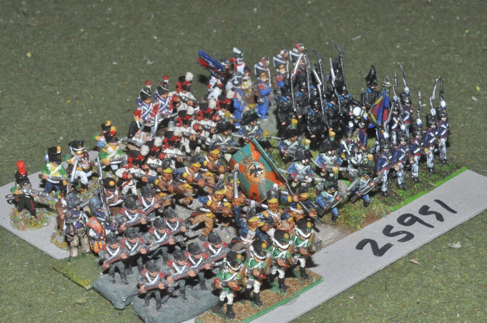 15mm napoleonic   generic - mixed painted 70 figures - inf (25951)