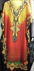 Ladies-Women-039-s-New-Summer-Cool-Floral-Print-Long-kaftan-dress-12-to-24-Fit