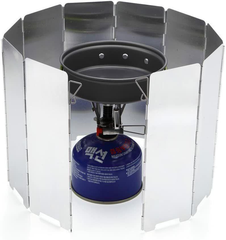 10 placas plegable Camping Picnic Protector para estufa de gas Cocina