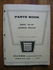 Oliver Oc 18 Crawler Tractor Parts Book Catalog Manual Original
