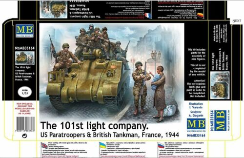 101 LIGHT COMPANY US PARATROOPERS AND BRITISH TANKMAN  1/35 MASTER BOX 35164 DE