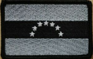 KIRIBATI Flag Embroidered Iron-On Patch MC Biker  Emblem White Border