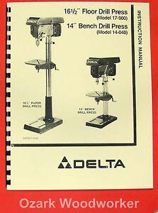 delta rockwell 17 900 14 040 16 5 quot  drill press operator s parts manual 0202 ebay Delta Drill Press Guards delta drill press 17-900 manual