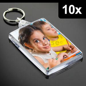 10x Premium Quality Clear Acrylic Blank Keyrings Key Fobs ...