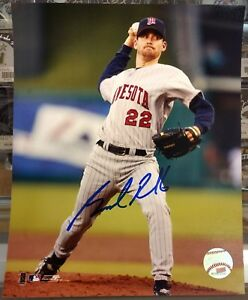 Brad-Radke-Autographed-8x10-Photo-Minnesota-Twins-Grey-Jersey-In-Person-Signing