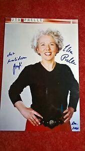 Original-autogramm Von Uta Prelle Groß 29,8 Cm X 20,3 Cm Farbfoto