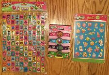 Shopkins 4 Wristbands and Sticker sheets over 200 sticker Strawberry Kiss