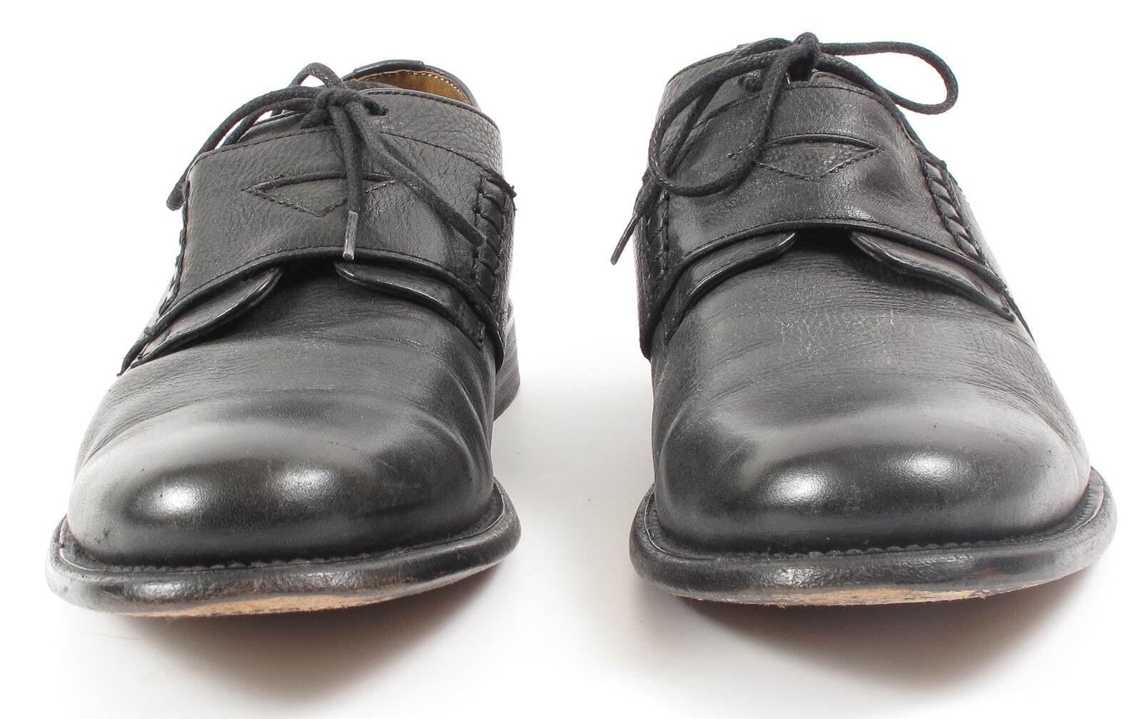 J. D. Fisk Schwarzes Leder Oxford Schuh Formelle Schuhe Größe Größe Größe 9 682766