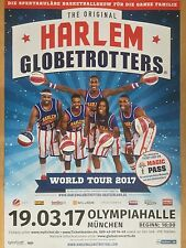 HARLEM GLOBETROTTERS 2017 MÜ.  ++ orig.Concert Poster -- Konzert Plakat  A1 NEU