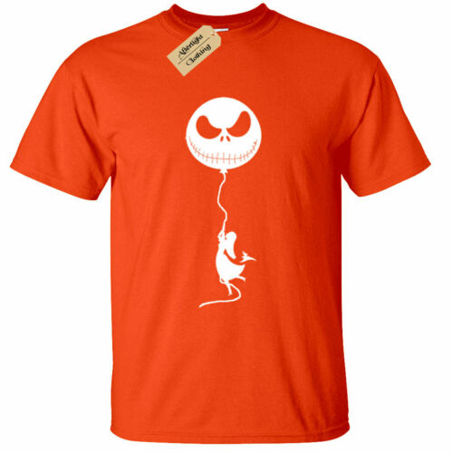 KIDS BOYS GIRLS Jack Balloon Girl T Shirt skellington nightmare pumpkin face